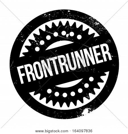 Frontrunner rubber stamp. Grunge design with dust scratches. Effects can be easily removed for a clean, crisp look. Color is easily changed.