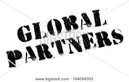 Global Partners rubber stamp. Grunge design with dust scratches. Effects can be easily removed for a clean, crisp look. Color is easily changed.