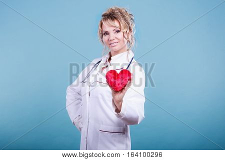 Middle Aged Blonde Doctor Enjoy Her Work.