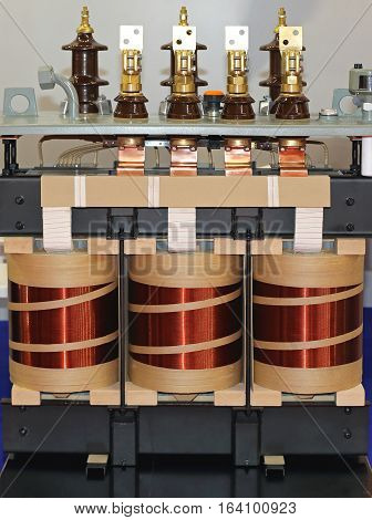 Big Industrial Electric Transformer Device With Copper Wire Coils