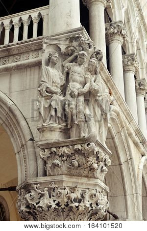Sculptures On Doge's Palace