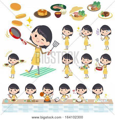 School Girl Brown Blazer Cooking