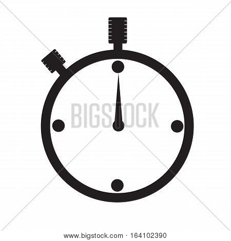 watch icon on white background. watch sign.