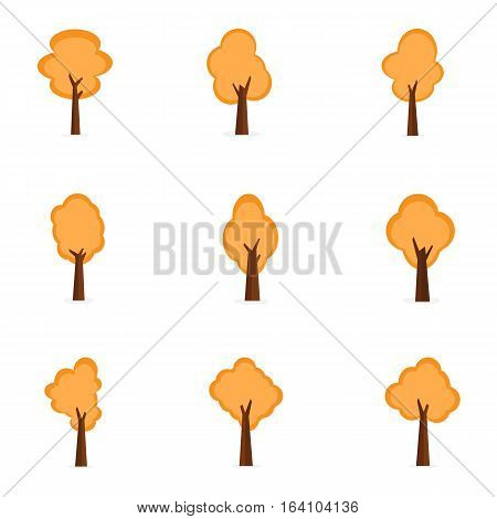 Collection stock of trees set vector art