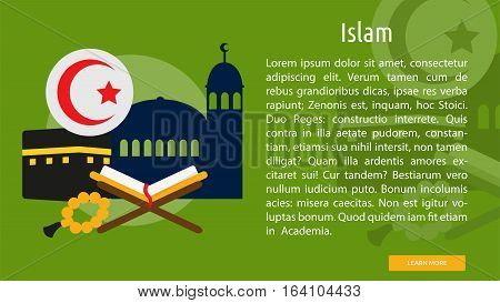 Islam Conceptual Banner | Great flat illustration concept icon and use for Religious, event, holiday, celebrate and much more.