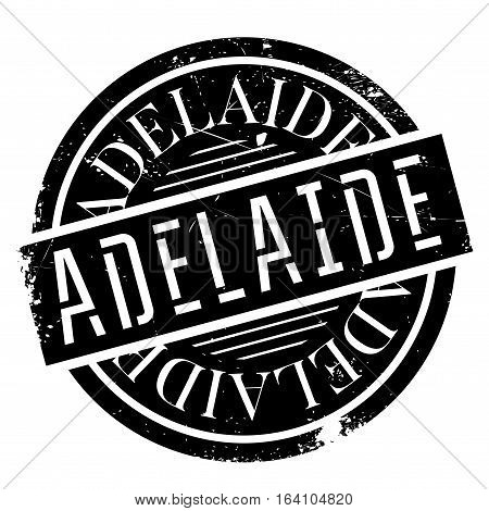 Adelaide rubber stamp. Grunge design with dust scratches. Effects can be easily removed for a clean, crisp look. Color is easily changed.