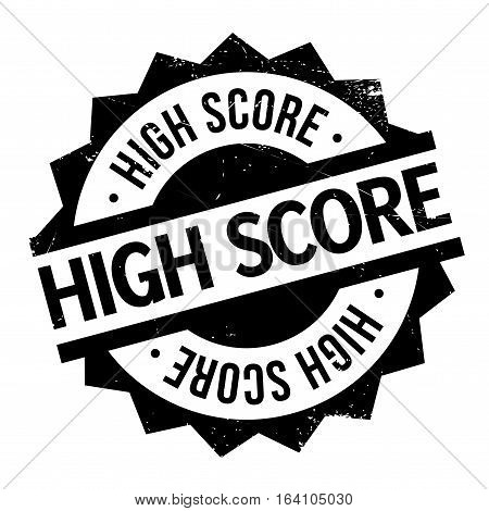High Score rubber stamp. Grunge design with dust scratches. Effects can be easily removed for a clean, crisp look. Color is easily changed.