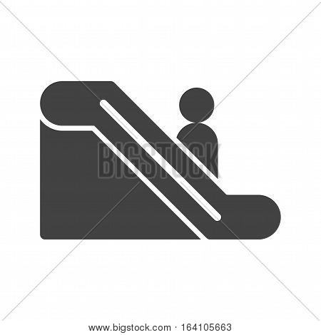 Escalators, meseum, travel icon vector image. Can also be used for meseum. Suitable for web apps, mobile apps and print media.