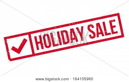 Holiday Sale rubber stamp. Grunge design with dust scratches. Effects can be easily removed for a clean, crisp look. Color is easily changed.