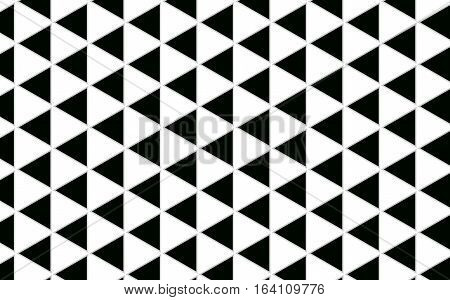 Geometric Triangle black and white Pattern abstract background with grey border