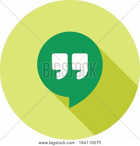 Hangout, social, chat icon vector image. Can also be used for social media logos. Suitable for mobile apps, web apps and print media.