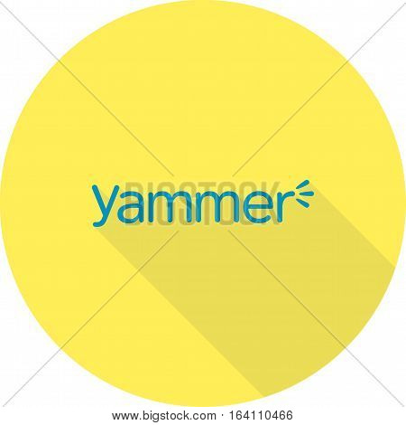 Yammer, logo, media icon vector image. Can also be used for social media logos. Suitable for mobile apps, web apps and print media.