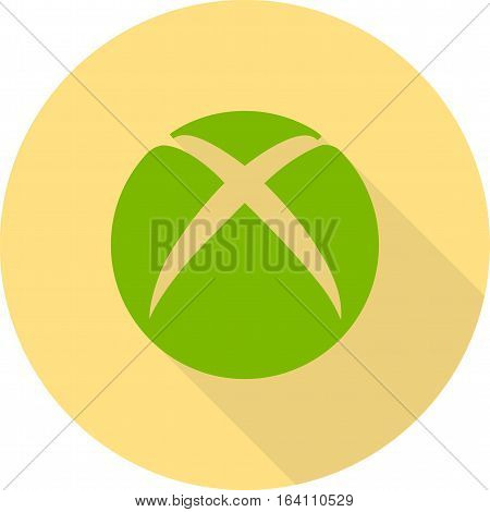 Xbox, game, microsoft icon vector image. Can also be used for social media logos. Suitable for mobile apps, web apps and print media.