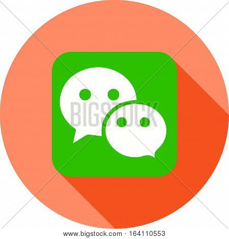 Wechat, call, media icon vector image. Can also be used for social media logos. Suitable for mobile apps, web apps and print media.