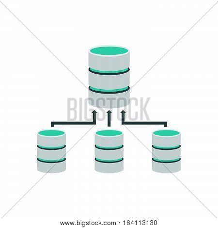 Backup database. Database management. Database connection symbol