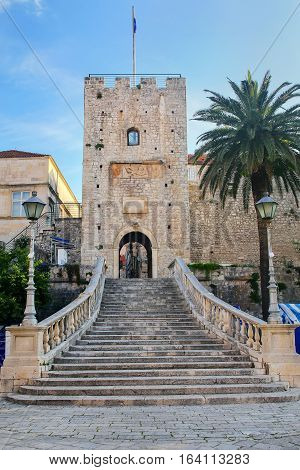 Kopnena Vrata (land Gate) In Korcula Old Town, Croatia
