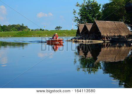 'Huay Tung Tao Lake in Chiangmai Thailand'