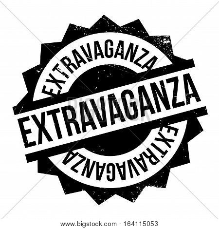 Extravaganza rubber stamp. Grunge design with dust scratches. Effects can be easily removed for a clean, crisp look. Color is easily changed.