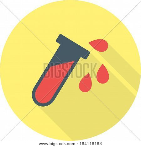 Acidic, test, laboratory icon vector image. Can also be used for warning caution. Suitable for use on web apps, mobile apps and print media.