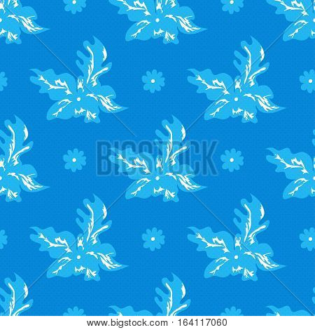 delicate small flowers seamless pattern vector illustration abstract high quality