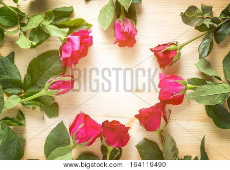 Rose On Wood For Sell On Valentine