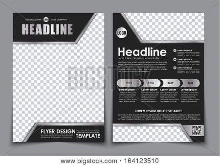 Template Black A4 Brochure With Chrome Elements