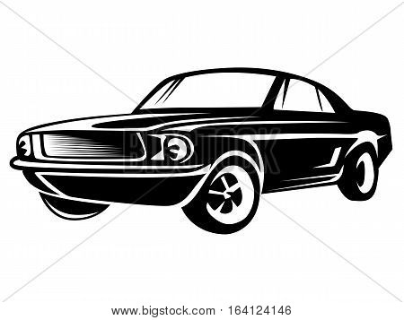 Muscle Car Isolated On White