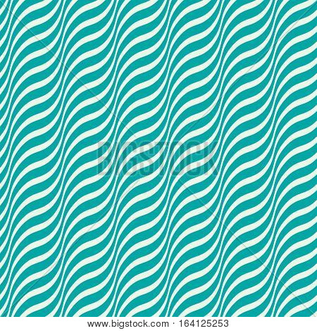 Vector ornamental continuous background made using undulate diagonal stripes.