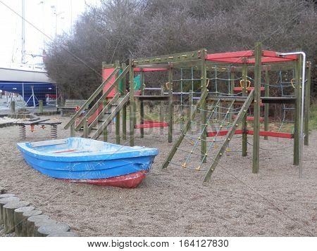 Childrens Playground By Flensburg Fjord