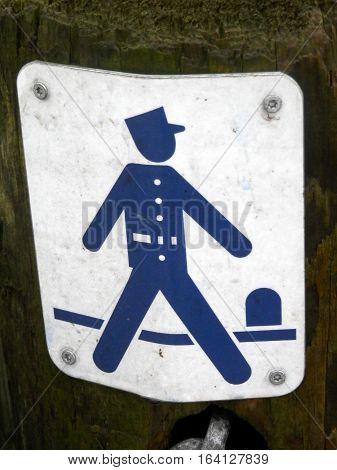 Gendarm Path Notice On Post
