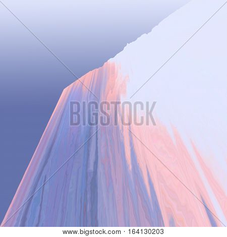 Background of glitch manipulations. Abstract shapes of blue and pink colors. It can be used for web design and visualization of music