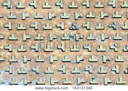 Abstract tetris rusty wall pattern texture background