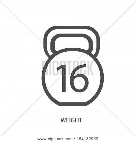 Weight icon in modern line style on a white background