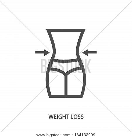 weight loss icon in modern line style