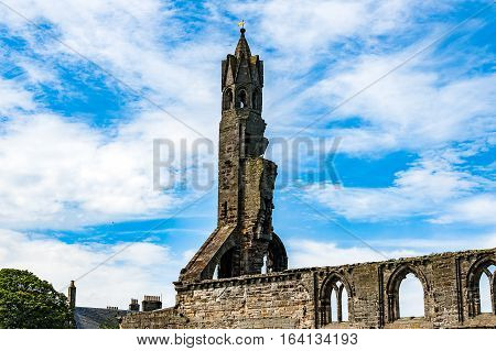 St Andrew, Scotland, Uk, September 17, 2016. Ruins Of St. Andrew's Cathedral