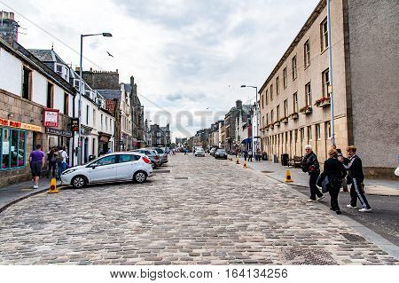 St Andrew, Scotland, Uk, September 17, 2016.market St.