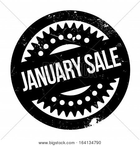 January Sale rubber stamp. Grunge design with dust scratches. Effects can be easily removed for a clean, crisp look. Color is easily changed.