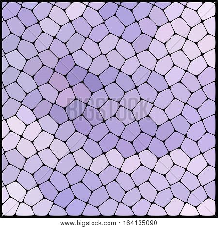 Abstract mosaic pattern consisting of geometric elements of different sizes and colors. Vector illustration. White, pink, violet colors.