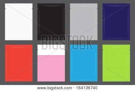 set of a cosmetic Cream Sachets pack vector