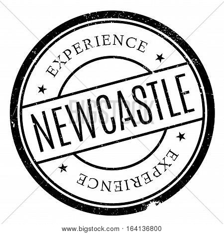 Newcastle stamp. Grunge design with dust scratches. Effects can be easily removed for a clean, crisp look. Color is easily changed.