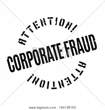 Corporate Fraud rubber stamp. Grunge design with dust scratches. Effects can be easily removed for a clean, crisp look. Color is easily changed.