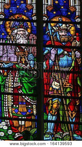 Stained Glass - Saint Pope Eleuterus And Bavo