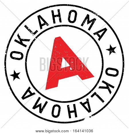 Oklahoma stamp. Grunge design with dust scratches. Effects can be easily removed for a clean, crisp look. Color is easily changed.