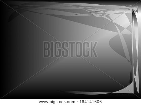black white background with abstract frame useful as background or Abstract