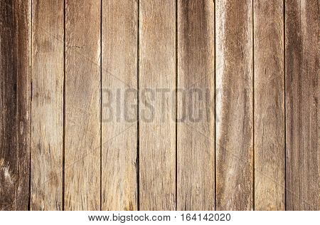 Brown old wood background and texture with copy space for any design