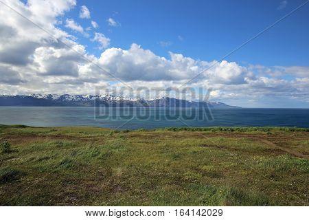 Coastline of Northern Iceland near Husavik. Europe