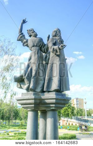 ORYOL RUSSIA - May 15.2012: Sculptures of personages of novels by Nikolai Leskov