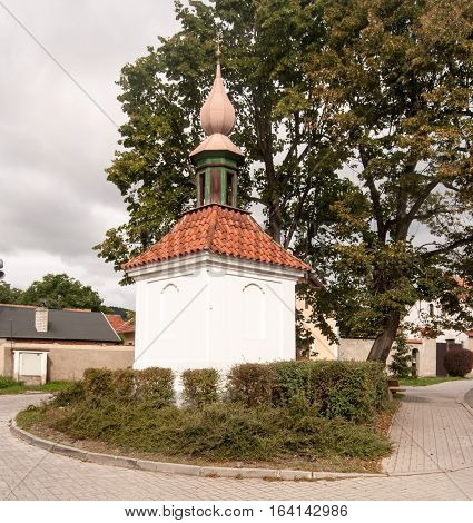 small chapel on Treban village near famous Karlstejn castle in Central Bohemia