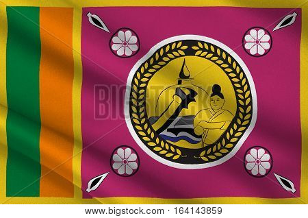 Flag of North Central Province is a province of Sri Lanka. 3d illustration