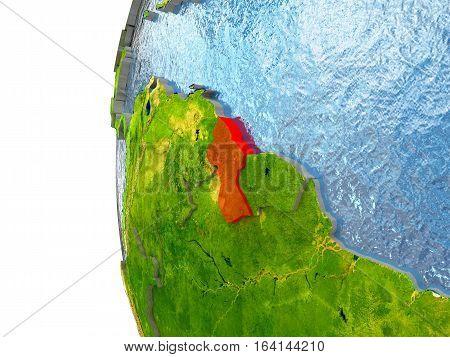 Guyana In Red